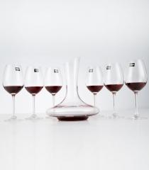 Vinocave红酒杯套装 高脚酒杯6支+斜口醒酒器 780