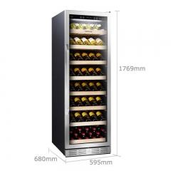 维诺卡夫 PRO168A 酒窖级压缩机恒温红酒柜  官方正品 