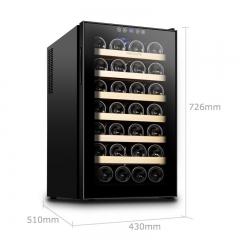 维诺卡夫SC-28AJP电子恒温红酒柜 28瓶装 经典不锈钢层架