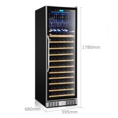 维诺卡夫(Vinocave)希尔曼系列 CWC-168A压缩机恒温酒柜| 全新工艺| 官方正品