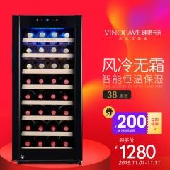 维诺卡夫(Vinocave)尼斯1978系列 CWC-100A压缩机恒温红酒柜90L容量 |官方正品