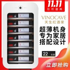 Vinocave/维诺卡夫 JC-76A小型家用红酒柜 22瓶容量 极地白